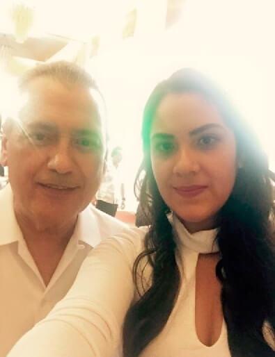 Con el ex dirigente del PRI, Manlio Fabio Beltrones