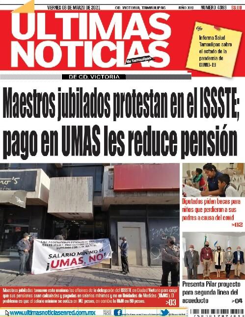 portada ultimnasnoticias 05mar21