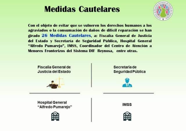 Derechos Humanos emite medidas contra varias dependencias de Tamaulipas