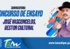 """Concurso de ensayo """"José Vasconcelos, gestor cultural"""""""