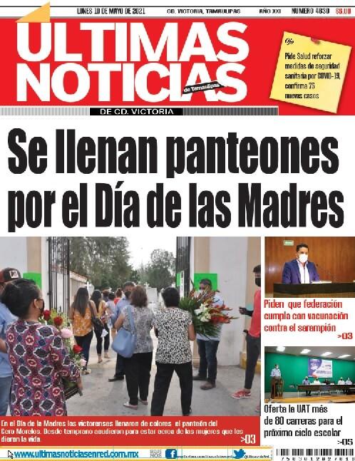portada ultimasnoticias 10may21