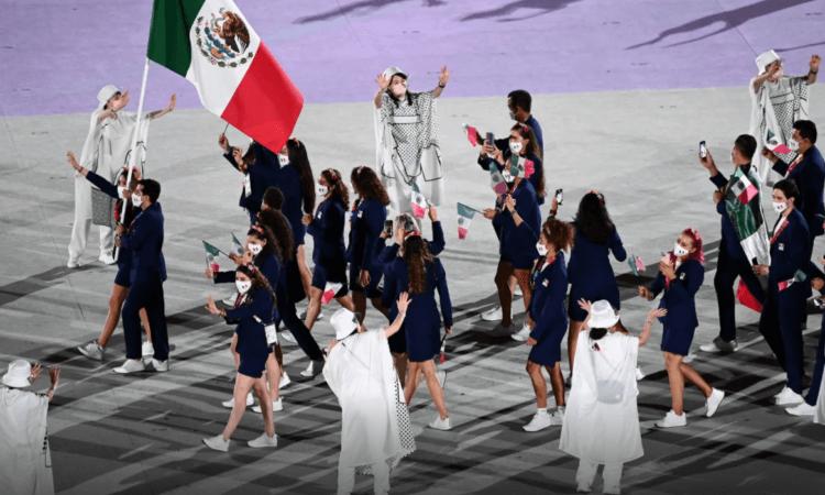 La presentación de México en la inauguración de los Juegos Olímpicos