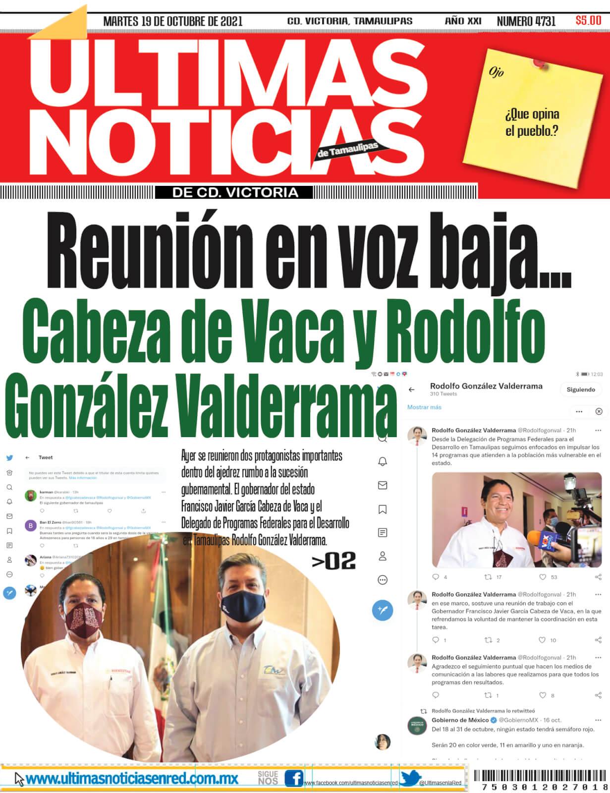 portada ultimasnoticias 19oct21